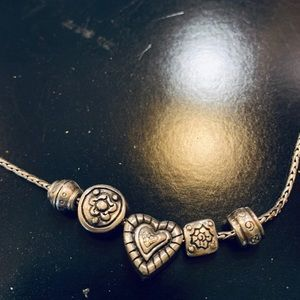 Brighton silver charm necklace.